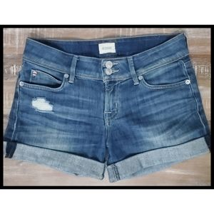 HUDSON Croxley Distressed Denim Jean Shorts 25